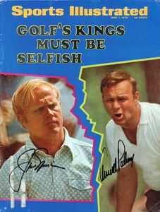 1970 Jack Nicklaus and Arnold Palmer Signed SI Cover