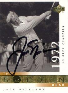 Jack Nicklaus Signed Card