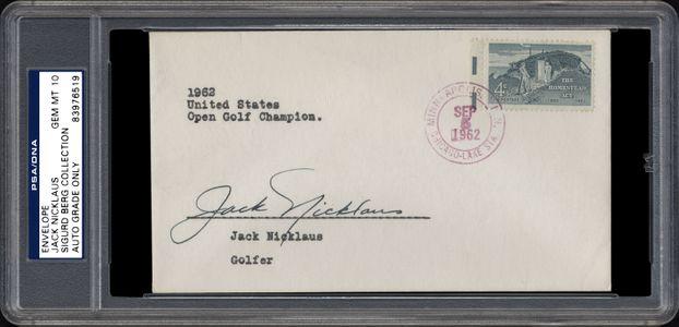Jack Nicklaus Signed Envelope