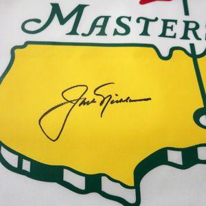 Jack Nicklaus Signed Flag Closeup