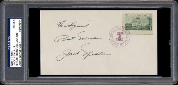 Jack Nicklaus Signed Index Card