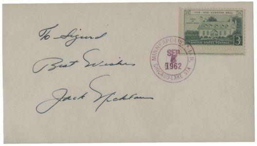 Jack Nicklaus Signed Postcard