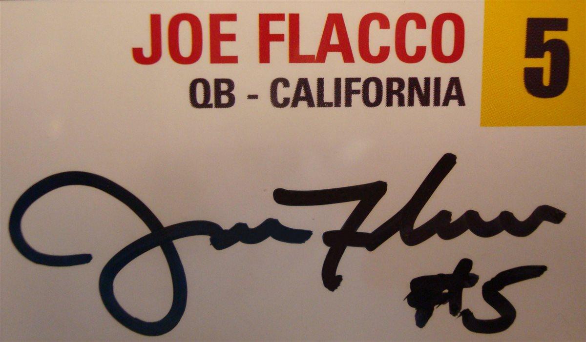 joe flacco signed jersey