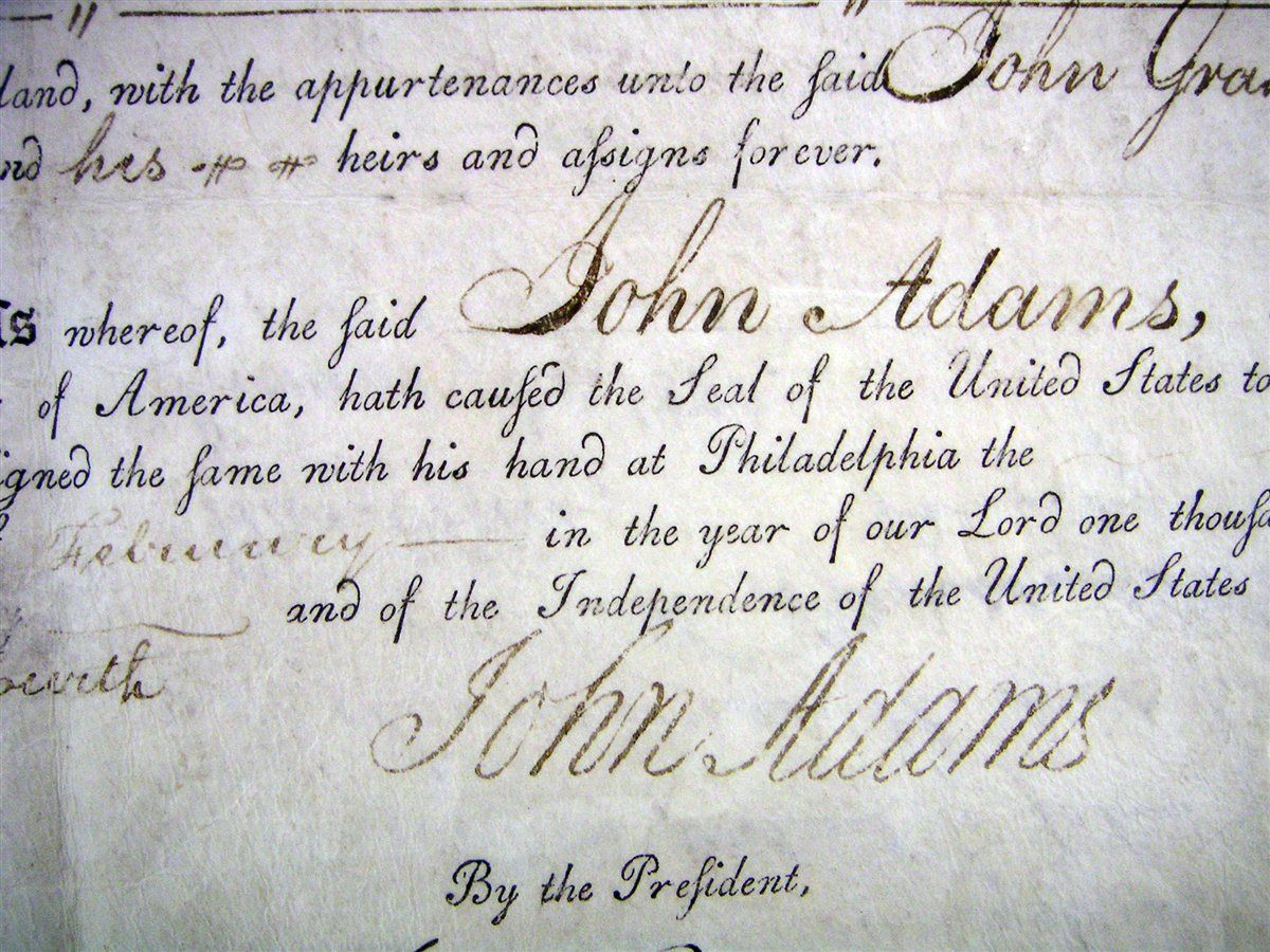 John Adams Signature On The Declaration Of Independence
