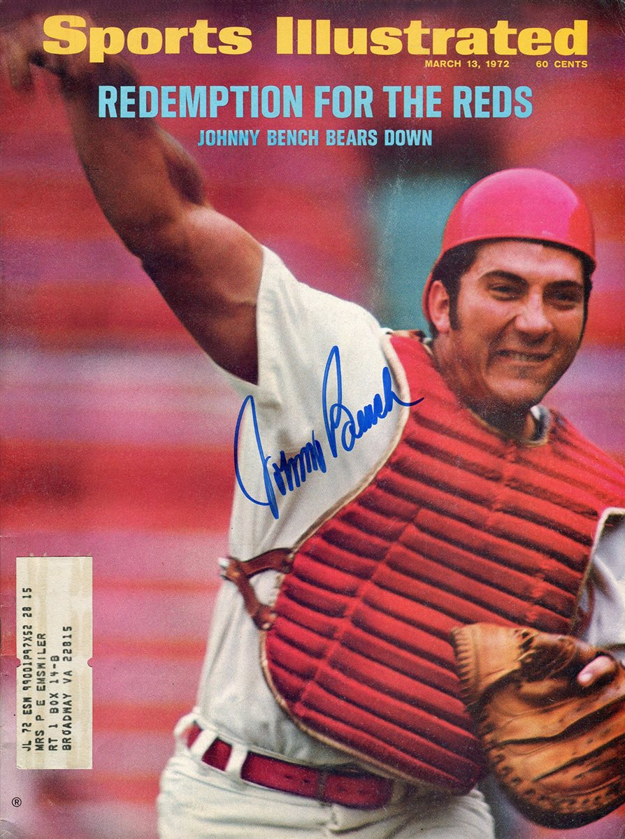 Marvelous Johnny Bench Photos Part - 7: Johnny Bench Signed SI Cover
