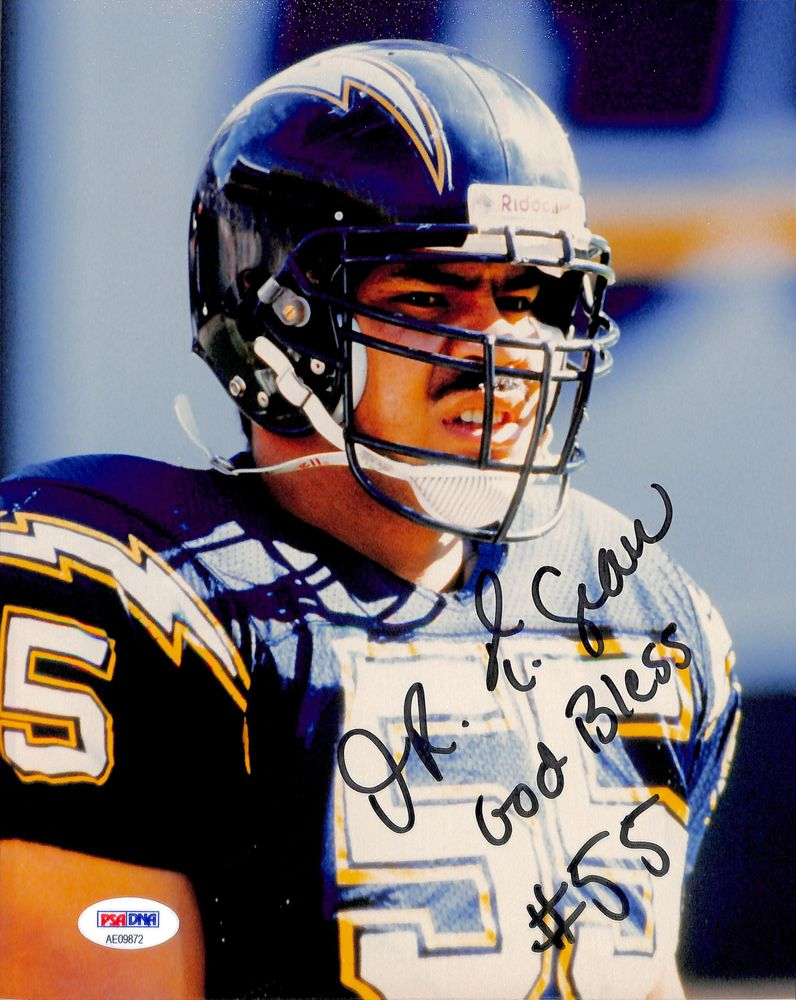 low priced 27cd1 a79bc Football - Junior Seau - Images | PSA AutographFacts™