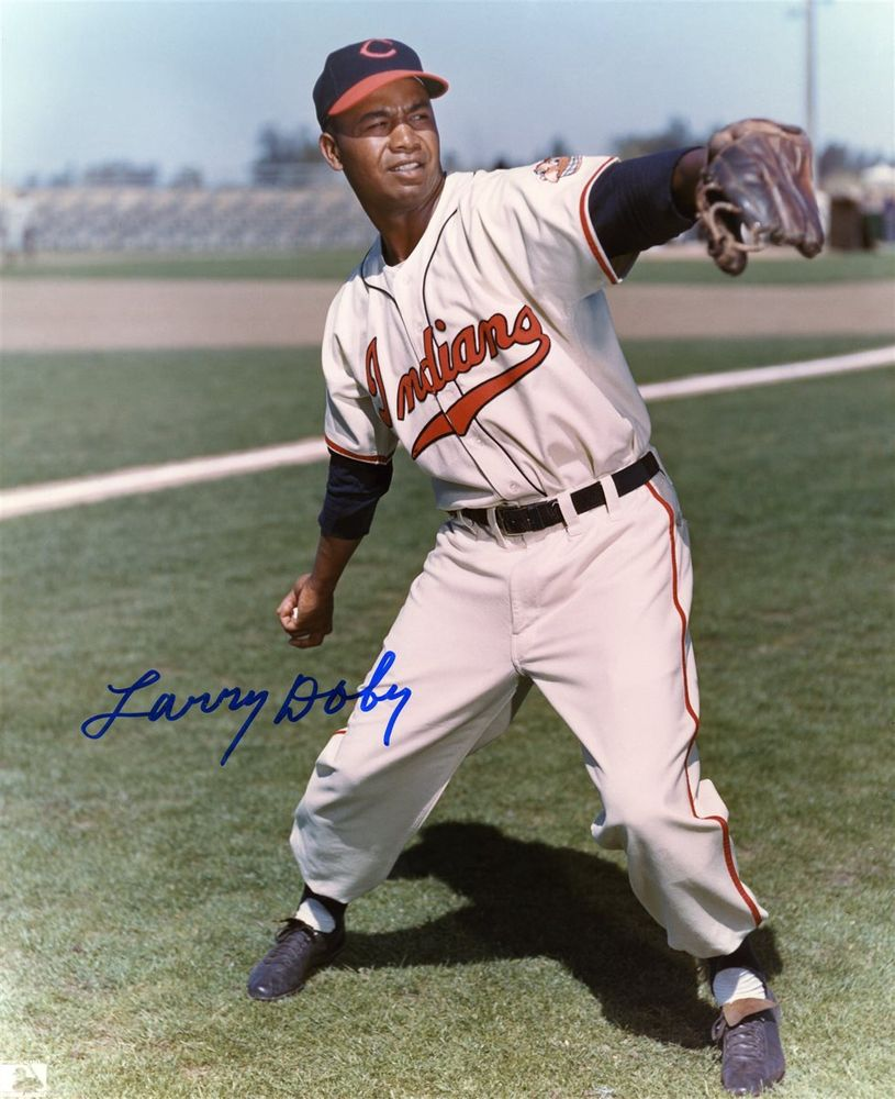 Image result for larry doby signed with the cleveland indians