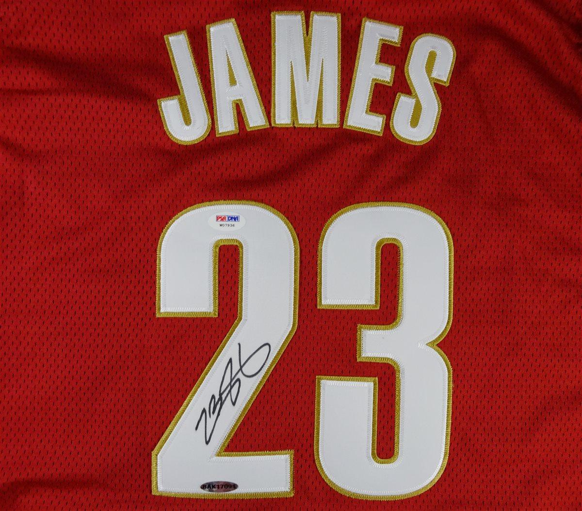 lebron james autographed jersey