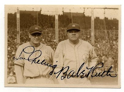 Lou Gehrig and Babe Ruth Signed Photo