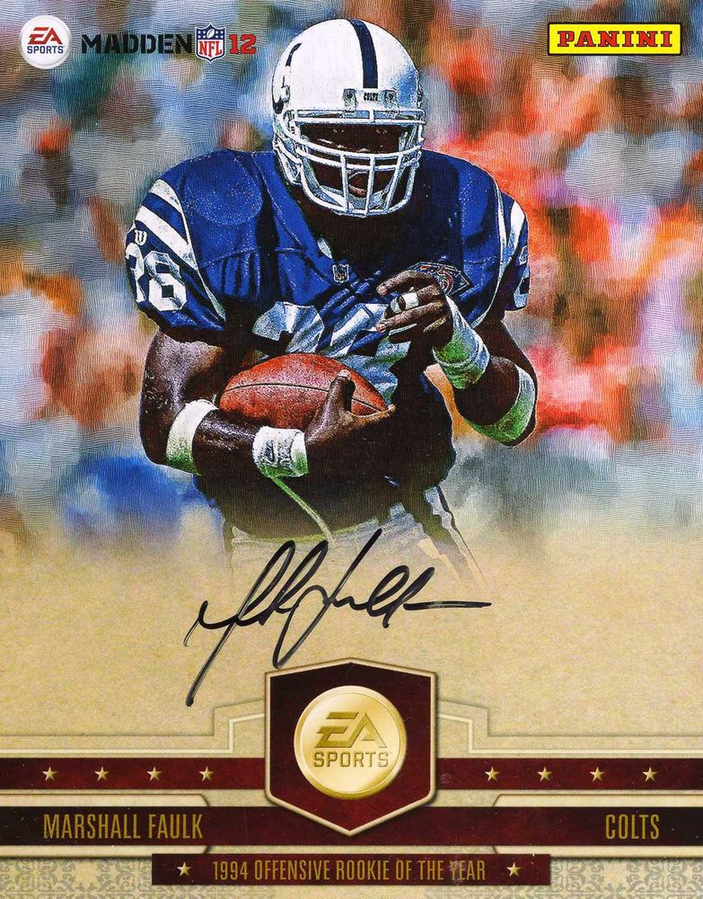 best loved a6f8d b99f5 Marshall Faulk | PSA AutographFacts™