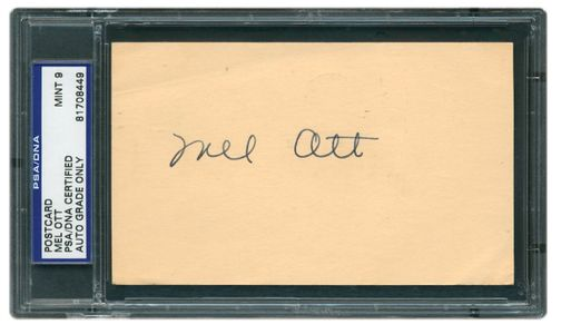 Mel Ott Signature