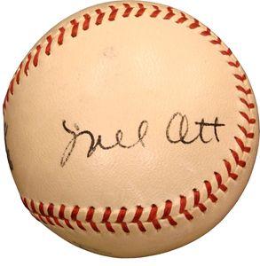 Mel Ott Signed Baseball