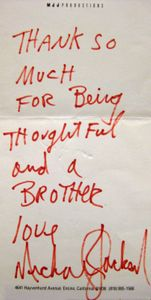 Michael Jackson Handwritten Note