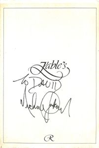 Michael Jackson Signed and Inscribed Menu