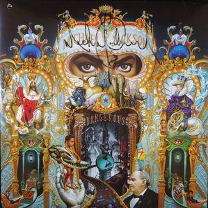 """Michael Jackson Signed """"Dangerous"""" Album Cover"""