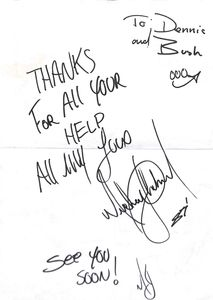Michael Jackson Signed Note