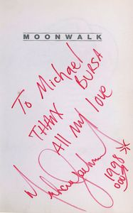 Michael Jackson Signed Page