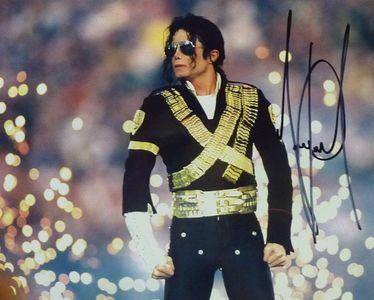 Michael Jackson Signed Super Bowl Photograph