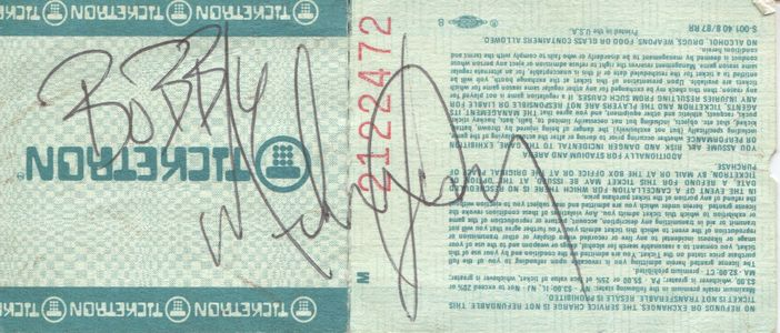Michael Jackson Signed Ticket