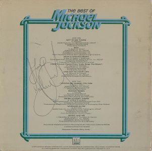Michael Jackson Singed Album