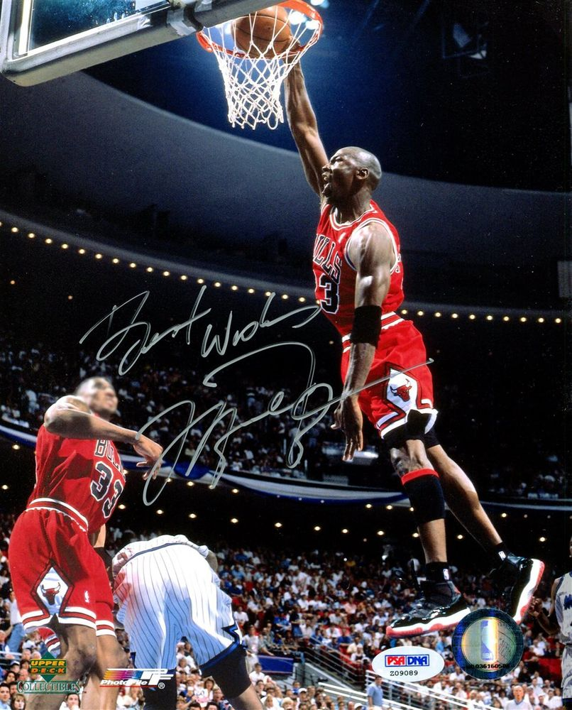 Michael Jordan Signed Dunk Photograph