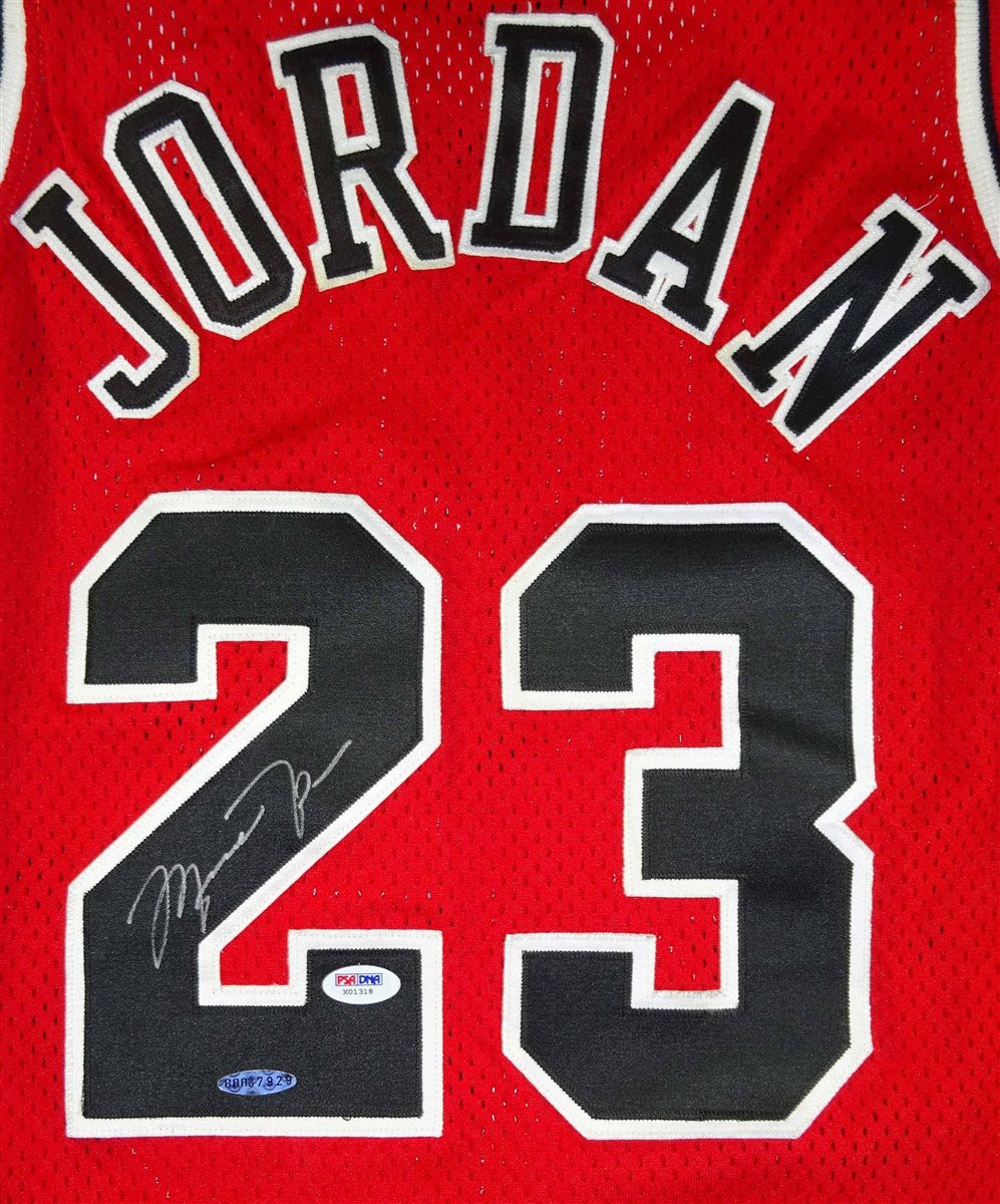 2a387b61db8 michael jordan signed jersey for sale- HIS LLC