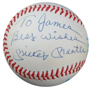 Mickey Mantle Personalized Baseball