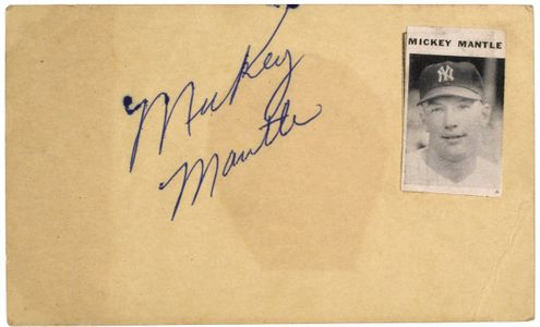 1951 Mickey Mantle Signature