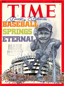 Mickey Mantle Signed 1976 Time Magazine