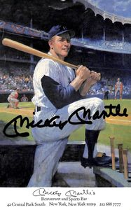 Mickey Mantle Signed Advertisement