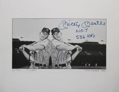 Mickey Mantle Signed and Inscribed Lithograph