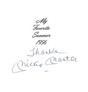 Mickey Mantle Signed Book Page