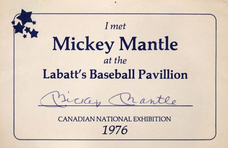 Mickey Mantle Signed Certificate