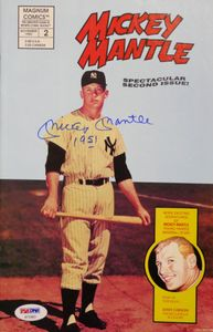 Mickey Mantle Signed Comic Book