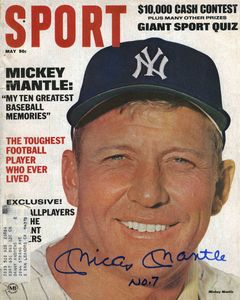 Mickey Mantle Signed Cover