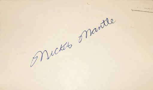 Mickey Mantle Signed Government Postcard