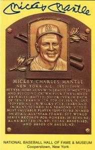 Mickey Mantle Signed HoF Card