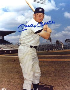 Mickey Mantle Signed Photo
