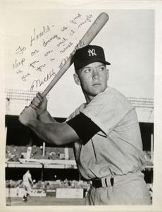 Mickey Mantle Signed Photograph from Early Playing Days