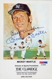Mickey Mantle Signed Promo Piece