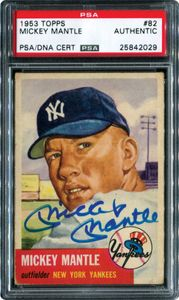 Mickey Mantle Signed Trading Card