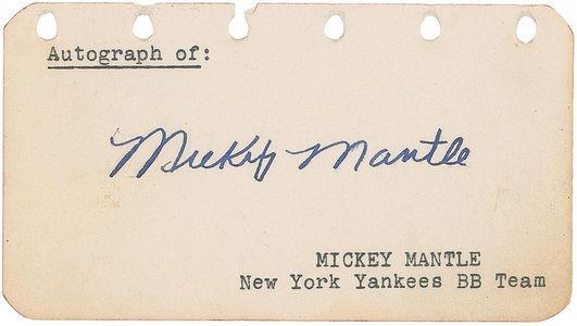 Mickey Mantle Vintage Signature