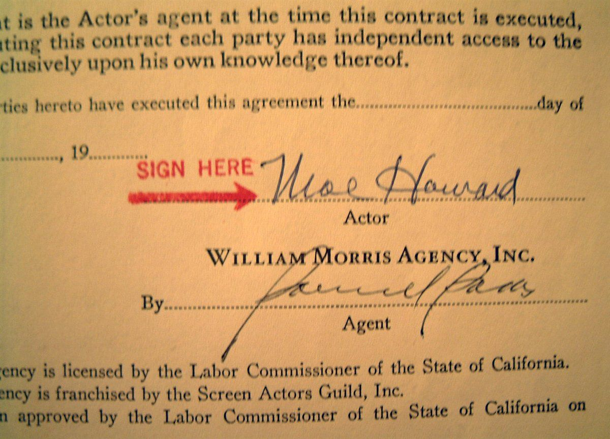 Movies And Television The Three Stooges Images Psa Autographfacts