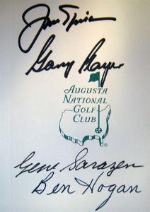 Nicklaus/Player/Sarazen/Hogan Signed Augusta Scorecard