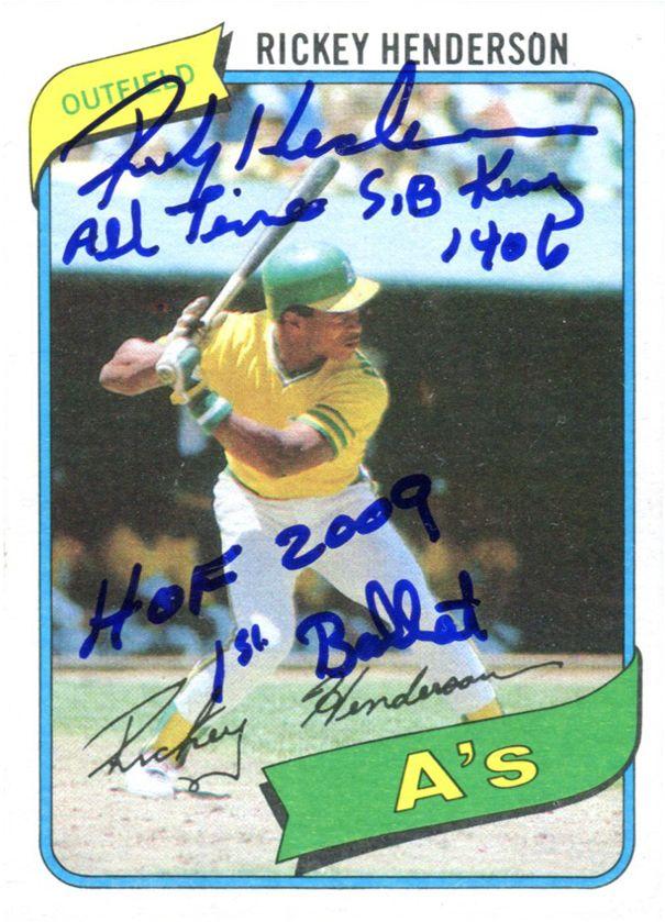 Baseball Rickey Henderson Images Psa Autographfacts