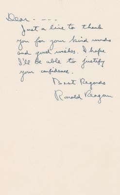 Ronald Reagan Psa Autographfacts