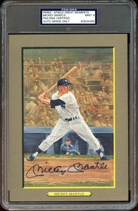 Signed Mickey Mantle Perez Steele Greatest Moments Card