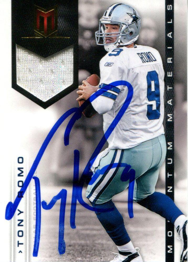 buy online ae92e 58e9b Tony Romo | PSA AutographFacts™