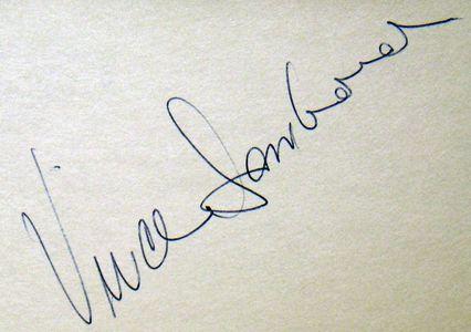 Vince Lombardi Signature