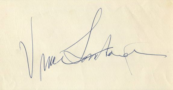 Vince Lombardi Signed Index Card